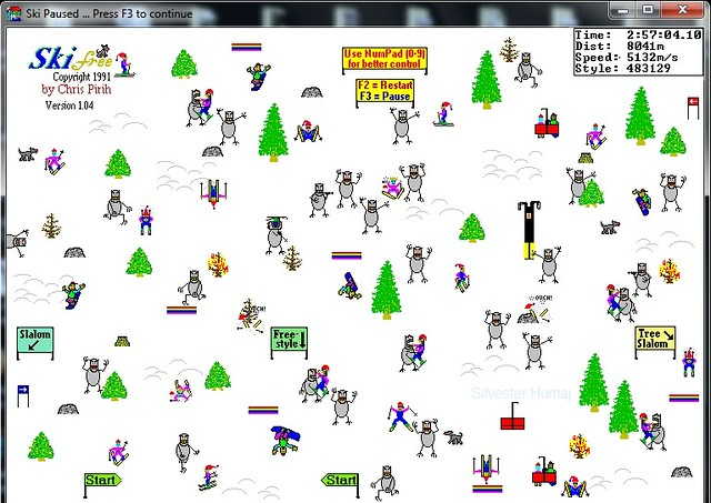 Snow ski game windows 95