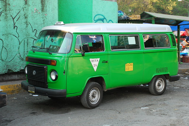 Mexico City Colectivo At One Time These Vw Combi