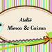 Frente do cartão Mimos & Artes