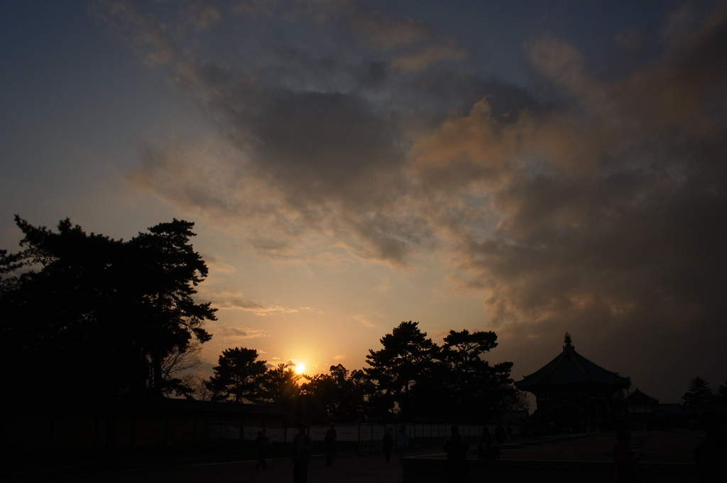 at dusk in Nara City