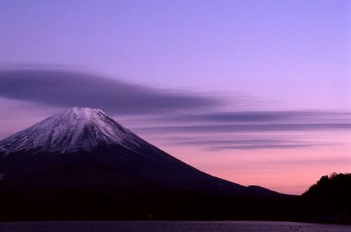 無料写真素材, 自然風景, 山, 朝焼け・夕焼け, 富士山, 風景  日本