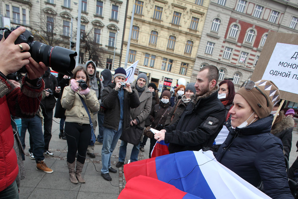 Russian protest in Prague 6