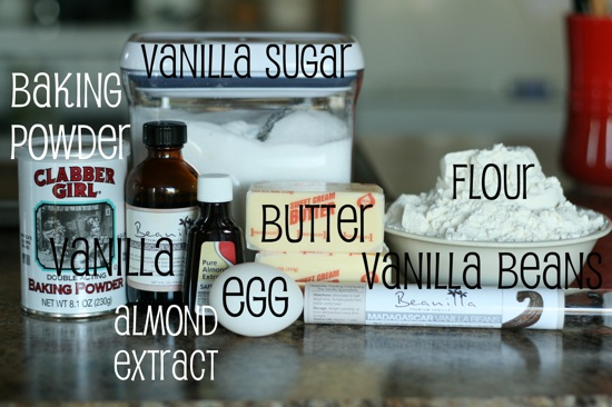Ingredients Vanilla Bean Sugar Cookies