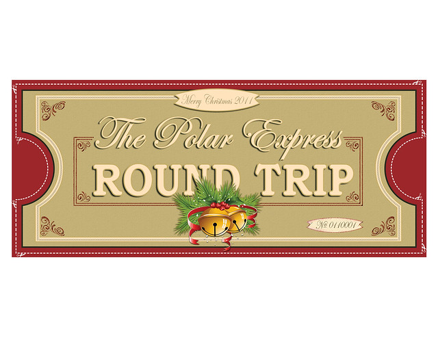 Polar Express Ticket FRONT 1UP 8.5x11 | Flickr - Photo Sharing!
