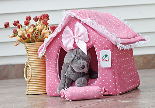 On Sale Large Covered Pink Princess Dog Cat Pet Bed House