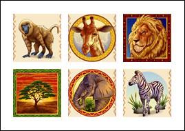 free Savannah Sunrise slot game symbols