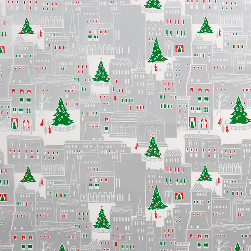 Vintage Christmas in the City Gift Wrap, Container Store