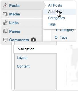 WordPress 3.3 dashboard tampak ringkas