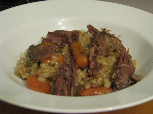 Crockpot Beef and Barley