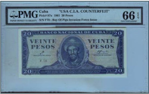CIA Bay of Pigs counterfeit