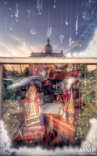 A Christmas window display