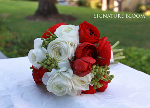 Cupertino Ca Wedding Flowers Red White Bridal Bouquet Flickr