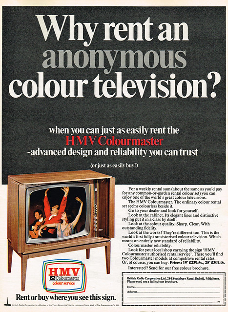 Vintage Ad #1,788: Don't Rent an Anonymous Colour TV!
