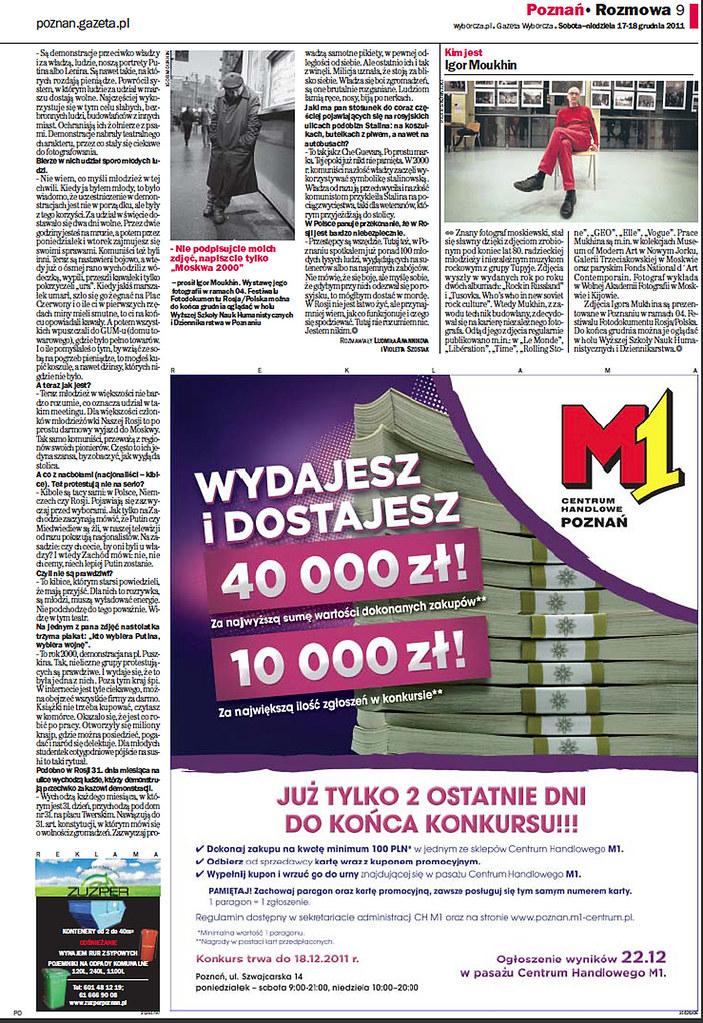 Gazeta Wyborcza iz 17.12.2011 (page 8-9).
