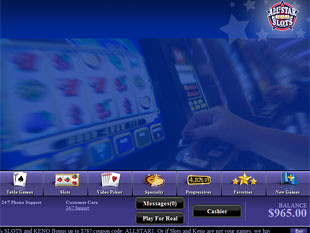 All Star Slots Casino Lobby