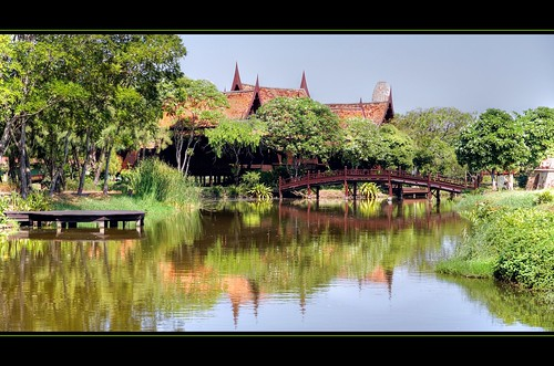 Ayutthaya style house at Muang Boran