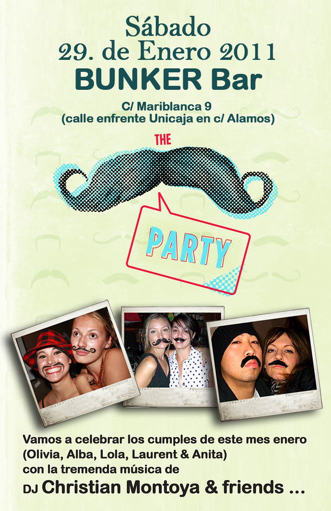 Moustache Party @ Bunker Bar Malaga