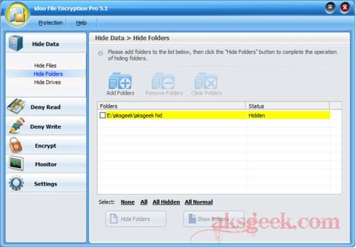 idoo File Encryption Pro 5.1_hide folders