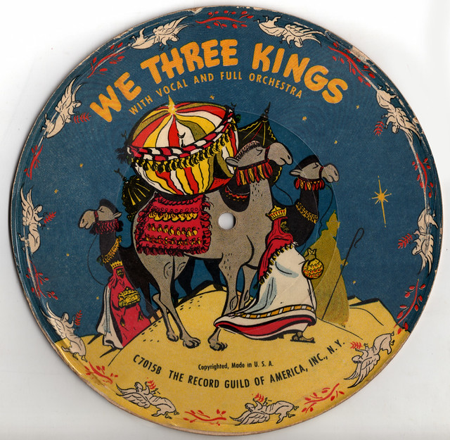 Vintage Christmas Record - We Three Kings