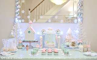 Winter Wonderland dessert table