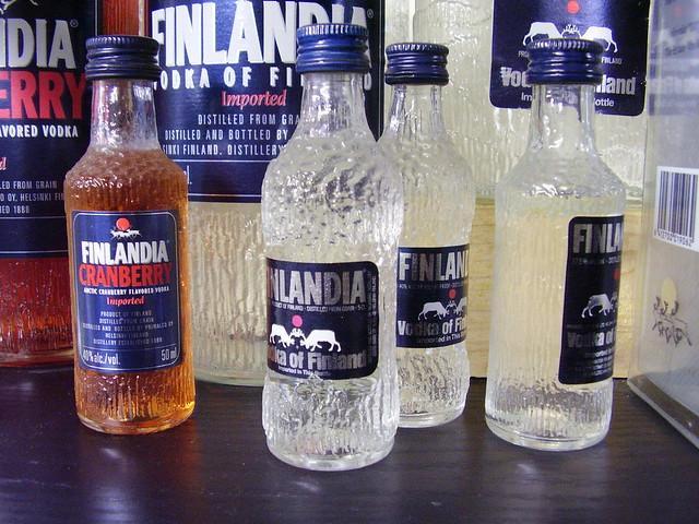 Unas botellas de Finlandia