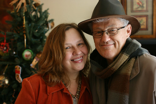 Mom and Dad on Christmas Morning