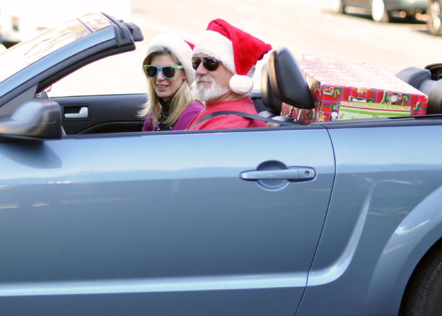 california santa-convertible santa hats sunglasses
