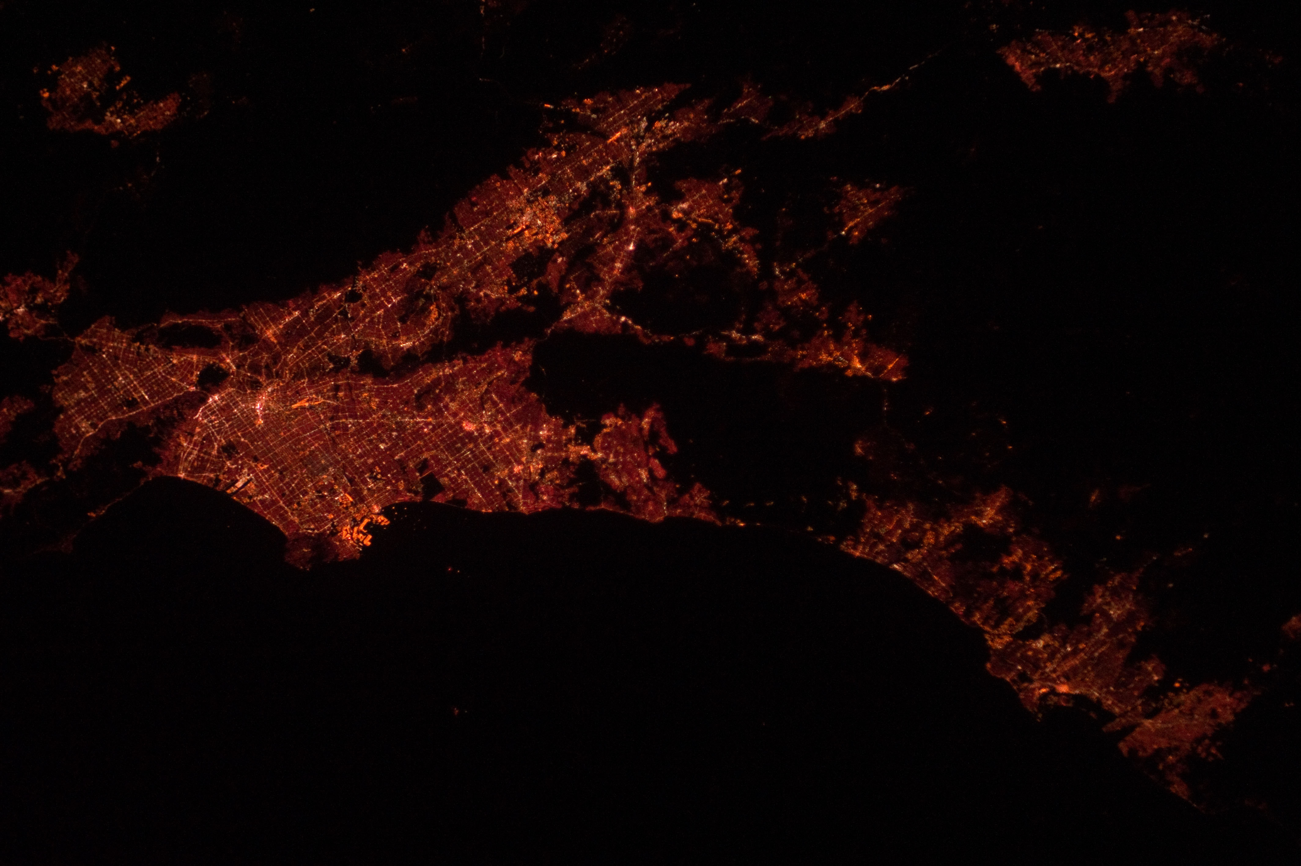 Los Angeles Area at Night (NASA, International Space Station, 12 ...