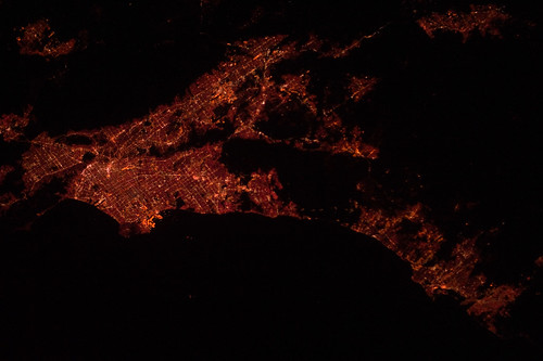 Los Angeles Area at Night (NASA, International Space Station, 12/25/11)