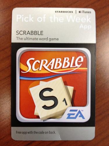 Starbucks iTunes Pick of the Week - Scrabble [app]