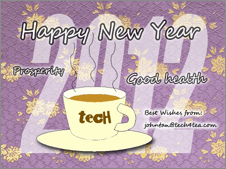 Best Wishes for 2012 from tech4tea.com