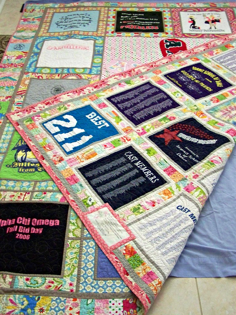 T-shirt quilt front and back