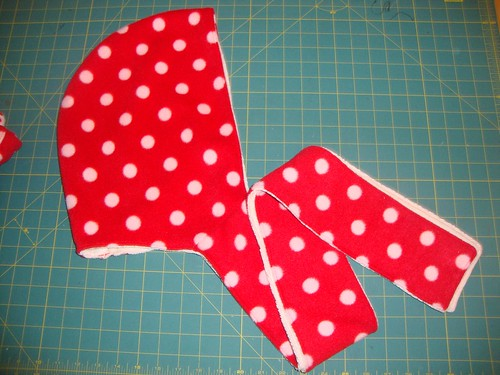 Polka dot fleece side