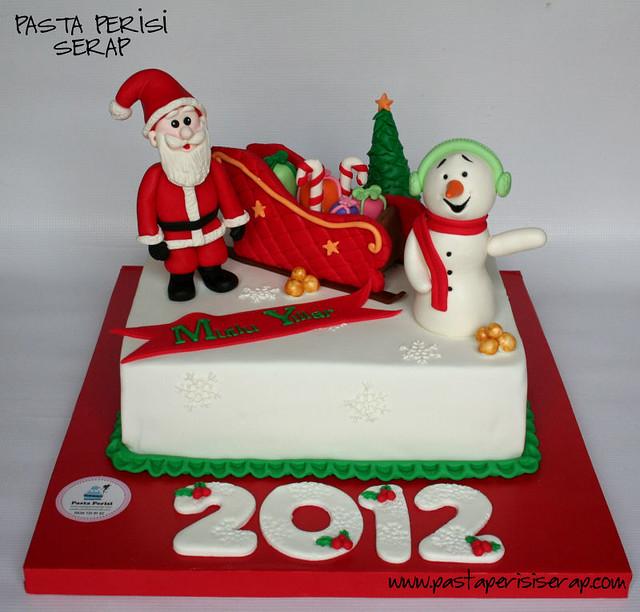 2012 yeni yıl pastası