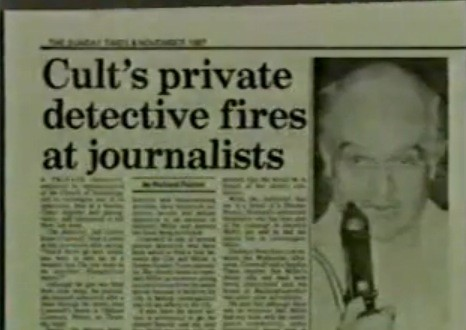 Scientology private detective shoots at Sunday Times journalists - from 1987 Facing South