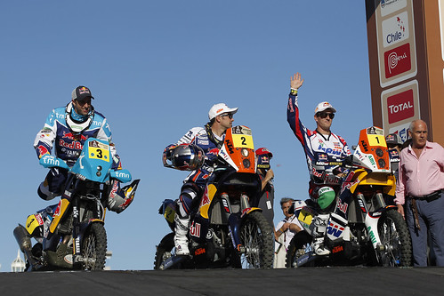 Los favoritos en motos del Dakar 2012