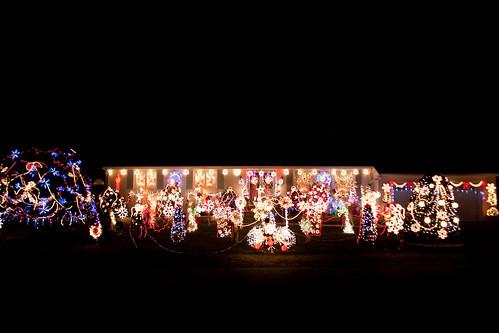 Christmas lights on a house in Saugus Massachusetts