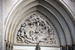 Creation of mankind - tympanum - west facade - National Cathedral - DC