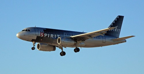 Spirit Airlines approaching LAS
