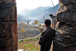 World I see from here... (2000 years old Sree/Siri Sharada Peeth Devi Temple, Sharada, Kashmir, Pakistan)