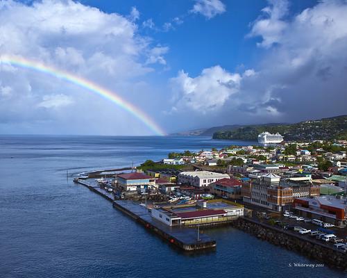cruise rainbow caribbean dominica