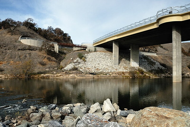 Hazel avenue overpass and bicycle trail underpass for Nimbus dam fishing