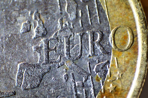 Mapa de una moneda del euro