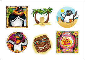 free Penguins in Paradise slot game symbols