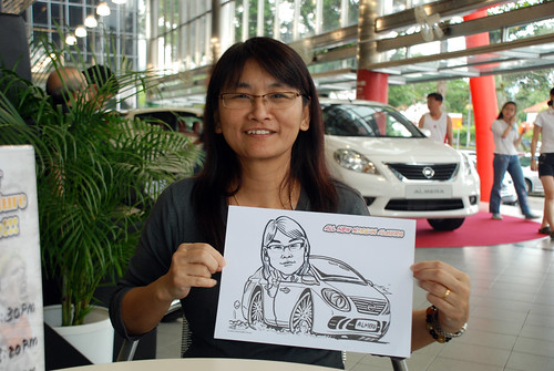 Caricature live sketching for Tan Chong Nissan Almera Soft Launch - Day 1 - 31