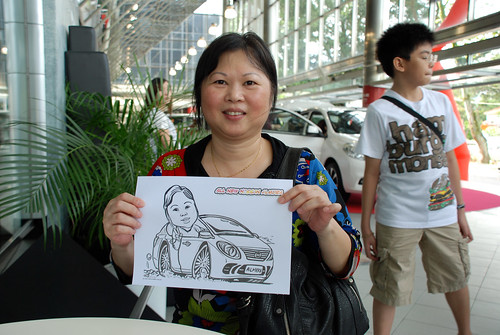 Caricature live sketching for Tan Chong Nissan Almera Soft Launch - Day 2 - 29