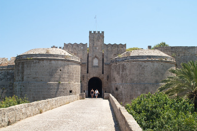 Fortress in Rhodes. View from a bridge