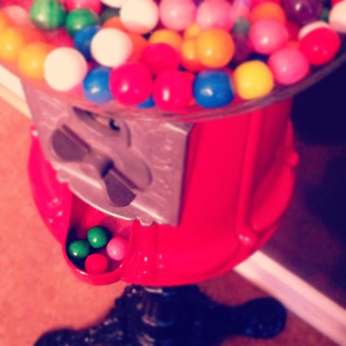 Having a vintage gumball machine in my kitchen makes me smile. #janphotoaday