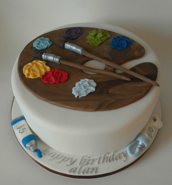 Artist Themed Cake : Artist themed 65th Birthday Cake Flickr - Photo Sharing!