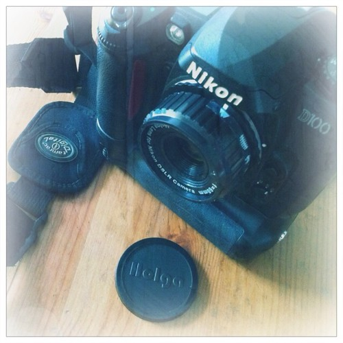 Nikon D100 with my new Holga lens